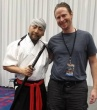 Nathan Hale with Tetsuro Shimaguchi at Comicpalooza 2015