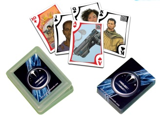 Deck of Project Mammoth playing cards, featuring the artwork of Kevin McCoy